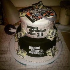 GTA5, grand theft auto V, video game party, game truck party, 13th bday,  Cakes by Tiffany, www.cakesbytiffany.com Santa Clara