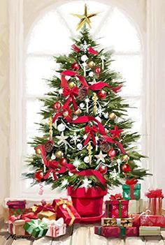 Xmas Tree Canvas Art - The Macneil Studio x Christmas Scenes, Christmas Pictures, Christmas Art, Winter Christmas, All Things Christmas, Winter Holidays, Christmas Clipart, Vintage Christmas Cards, Christmas Printables