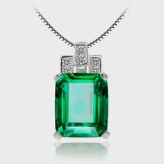 Luxury 6.51ct Nano Russian Emerald Pendant Gift Only $49.99 => Save up to 60% and Free Shipping => Order Now! #Bracelets #Mystic Topaz #Earrings #Clip Earrings #Emerald #Necklaces #Rings #Stud Earrings