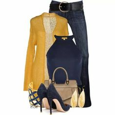 Navy and gold. Good combo.