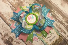 Easter hair bow  peeps hair bow  bunny now  by PinkHairBowBoutique