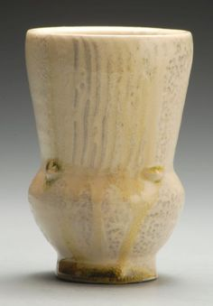 Cup wood fired varied tones of whites and yellow by joytanner, $32.00