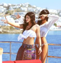 Kylie and Kendall Jenner in Greece