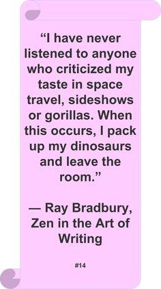 Ray Bradbury #Quote #Author #Humor