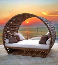 Home Room Design, Dream Home Design, Home Interior Design, House Design, Outside Furniture, Backyard Furniture, Outdoor Daybed, Outdoor Pool, Balkon Design