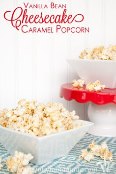 Want something a little fancier? This Vanilla Bean Cheesecake Caramel Popcorn is the perfect rich and creamy treat. Who knew popcorn could be so elegant? | Housefulofhandmade.com