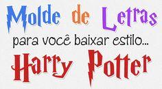 Baixe 2 tamanhos de molde de letras e números estilo Harry Potter para artesanato com patch aplique, EVA ou feltro. Nossos moldes estão em tamanho natural