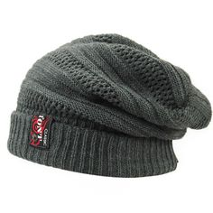 8f9d855f0a3 New Knitted Mens Winter Hat for Men Wool Beanie Hats Bonnet Hip Hop Warm Cap