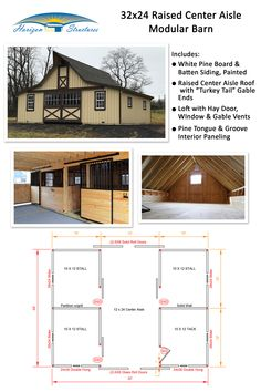 Finding the perfect barn can be difficult, but we've got a team of custom barn builders to help! Create your dream barn with our custom selections. Horse Barn Plans, Pole Barn House Plans, Pole Barn Homes, Pole Barns, Horse Farms, Horse Stables, Horse Barn Designs, Cow House, Barn Builders