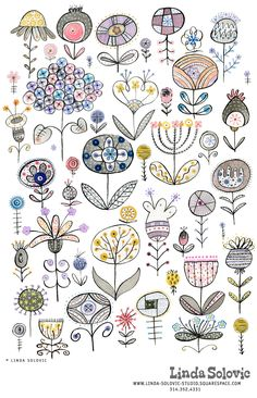 Doodle Patterns, Zentangle Patterns, Embroidery Patterns, Zentangles, Doodle Drawings, Doodle Art, Easy Drawings, Zen Doodle, Flower Doodles