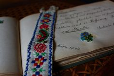 Embroidery bookmark by Millemara, via Flickr