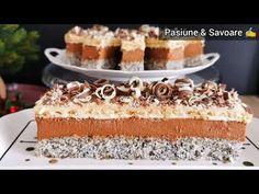 Prăjitura Tosca cu cremă fină de ciocolată | Pasiune & Savoare Dessert Drinks, Vanilla Cake, Tiramisu, Deserts, Food And Drink, Ice Cream, Ethnic Recipes, Sweet, Cakes