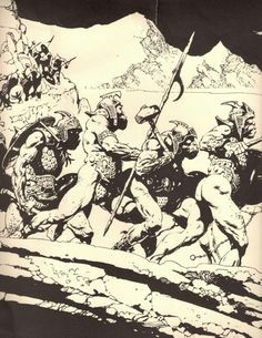 Orc Army, Lord of the Rings by Frank Frazetta