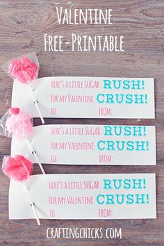 Pin for Later: 50+ Free Valentine's Printable Cards That Aren't Corny Sugar Rush Valentine's Printable Give your love a sugar rush with this printable.