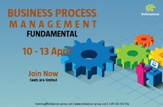 Business Process Management Fundamental course. Register now and guarantee your date.