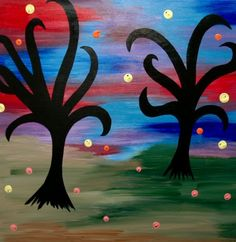 Medusa's Mexican Trees Canvas Painting Acrylic by AmbientAtelier, $325.00
