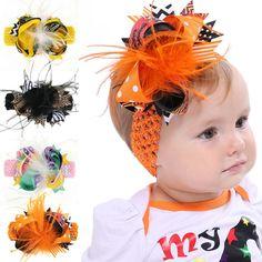 cf72d822849e0 Halloween Bowknot Hair Bands Halloween Kids