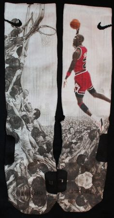 Michael Air Jordan Dunks Nike Elite Socks Parody by LuxuryElites, $32.99