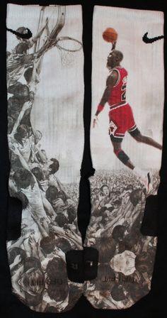 Michael Air Jordan Dunks Nike Elite Socks Parody by LuxuryElites, $32.99