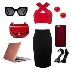 """School MUN"" by gurveenpanesar ❤ liked on Polyvore featuring Motel, Alexander McQueen, Chloé, Karen Walker, Wildflower and Speck"