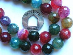 Raindow Agate Beads Faceted Round 10mm 40 by wimsy on Etsy (Craft Supplies & Tools, Jewelry & Beading Supplies, Beads, agate beads, rainbow agate, round agate beads, faceted agate beads, wimsy)