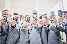 Gotta love an Iphone | Wedding Groomsmen | Wedding Photography | Liz Duren Photography | Charleston SC