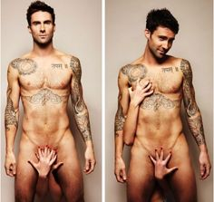 Adam Levine gets naked for prostate & testicular cancer prevention. Mmmmmmmmmmmm
