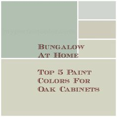 5 Top Paint Colors For your Walls If You Have Oak Cabinets