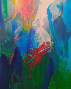 des superpositions de couleurs comme des mémoires organiques, aquatiques Painting, Art, Landscape, Paint, Art Background, Painting Art, Kunst, Paintings, Performing Arts