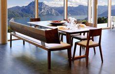 Die Bank Emily und der Sessel Lilly von Wittmann  #design #furniture #wood #wittmann #möbel #esszimmer Dining Bench, Furniture, Design, Home Decor, Banquette Bench, Objects, Dining Rooms, Armchair, Living Room