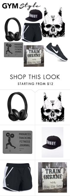 """I'm Goin to the Gym Guys"" by cassie-giles ❤ liked on Polyvore featuring Beats by Dr. Dre, memento, Wildfang, Under Armour, NIKE, Sports, gym, training and gymstyle"