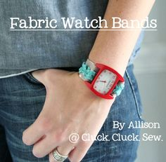 Fabric watch band