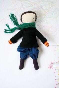 Boy doll! Rag doll cloth scraphappy boy doll waldorf inspired by humblehome, $49.95