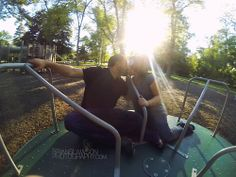 Photo by Brian Slawson Photography. Engagement shoot. #park #sunlight #summer