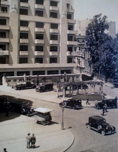 """Bucharest photos from the first decades of the century - mostly from the interwar period (between the two World Wars). ♦ The end of """"Little Paris"""" (click photo) ♦ Interwar Period, Little Paris, Bucharest Romania, Click Photo, World War Two, Time Travel, Street View, Pictures, Modernism"""