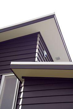 HardieSoffit™ Lining by James Hardie paired with Linea Weatherboard #linea #jameshardie #soffit