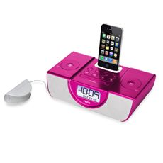 iHome docking station in hot pink from Bed, Bath and Beyond.