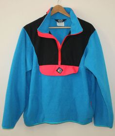 Woolrich Sigmet Gear Retro 90s Pullover Half Zip Fleece Mens Medium NICE #Woolrich #FleeceJacket
