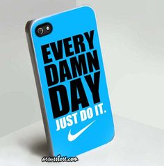 Every Damn Day Just Do it Nike iPhone Case 5/5S | Dalmanaz - Accessories on ArtFire