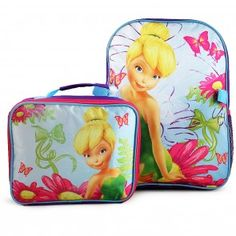 Disney Fairies Deluxe Backpack and Lunch Bag Set