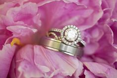 wedding bands and engagement ring photography