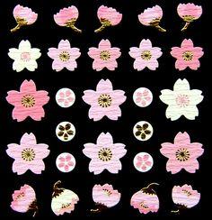 Beautiful Japanese Stickers Sakura Cherry Blossoms Chiyogami Paper S259