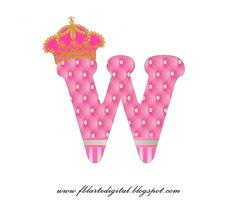 Alfabeto con Corona Dorada y Rosa. Pink Alphabet with Golden and Pink Crown. Pink Princess, Princess Party, Little Prince Party, Love Smiley, Alphabet Wallpaper, Pink Crown, Birthday Letters, Golden Crown, Baby Shawer
