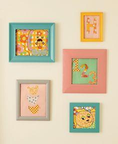 Honest Inspiration: Framed Fabric as Art (An easy DIY taken from Jessica Alba's new book, The Honest Life!)