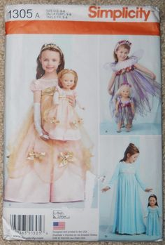 """SIMPLICITY PATTERN 18/"""" DOLL CLOTHES TUNIC TOP JACKET LEGGINGS # 1273"""