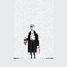 Animated 8-bit Comic Pixel Art of super heroes (18)