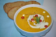 Classic pumpkin soup is warming, nourishing and nutrient packed. Add sweet potato and onion and the benefits are enhanced. In this recipe, the vegetable. Roast Pumpkin, Pumpkin Soup, Sweet Potato Soup, Meal Recipes, Main Meals, Onion, Slow Cooker, Curry, Potatoes