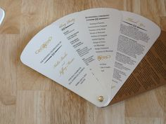 Wedding Fan Program by Fort Lauderdale Invitations - Visit our website for ordering information! Fort Lauderdale * Hollywood * Miami * Palm Beaches * We Ship Worldwide