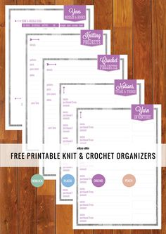 Knitting Journal Template Preview - a whole page of useful knitting templates...