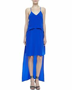 Byrne+Tiered+High-Low+Dress+by+Cusp+by+Neiman+Marcus+at+Neiman+Marcus.